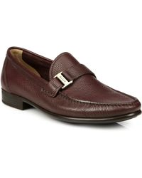 Bally Colbar Pebbled Leather Loafers - Lyst