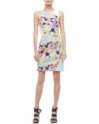 Sachin & Babi Molene Printedcolorblock Dress Sachin Babi - Lyst