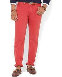 Ralph Lauren Polo Straight 5pocket Chino Pant Classic Fit - Lyst