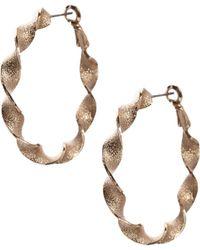 ASOS - Twist Hoop Earrings - Lyst