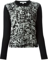 Carven Printed Front Panel Cardigan - Lyst