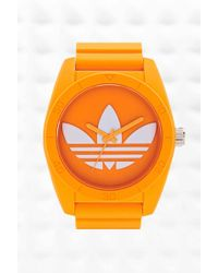 adidas - Originals Large Santiago Watch In Orange - Lyst