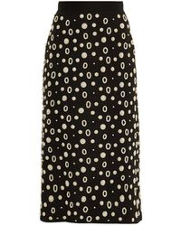 OSMAN Pearl-Embellished Midi Skirt - Lyst
