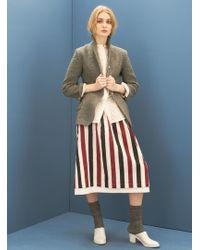 Renli Su - Grey Flannel Linen/wool Mix Jacket - Lyst