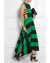 Stella McCartney Striped Jersey Maxi Dress - Lyst