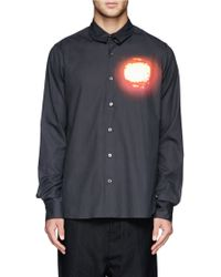 Ann Demeulemeester Sunset Print Cotton Shirt - Lyst