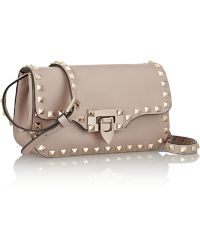 Valentino The Rockstud Leather Shoulder Bag - Lyst