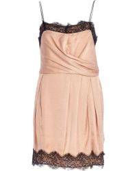 River Island Nude Lace Slip Dress - Lyst