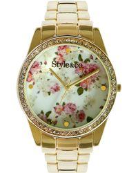 Style & Co. - Women's Gold-tone Bracelet Watch 40mm 10026592 - Lyst