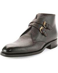 Tom Ford Edward Doublebuckle Boot - Lyst