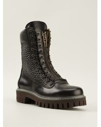 McQ by Alexander McQueen Pebble Texture Details Boots - Lyst