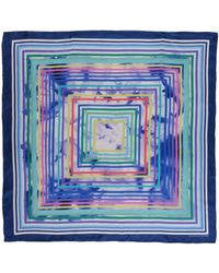 Caractere Square Scarf blue - Lyst
