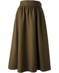 Yves Saint Laurent Vintage Aline Flannel Skirt - Lyst