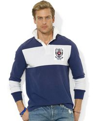 Ralph Lauren Polo Customfit Colorblocked Jersey Rugby Shirt - Lyst