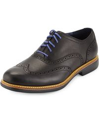 Cole Haan Great Jones Leather Wing-tip Oxford - Lyst