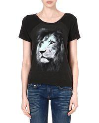 Wildfox Camden Lionprint Tshirt Black - Lyst