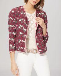 Maje Jacket - Reversible Jacquard multicolor - Lyst