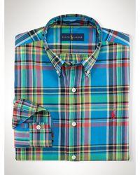 Polo Ralph Lauren Bright Plaid Twill Sport Shirt - Lyst