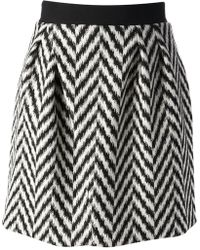 Emanuel Ungaro Zig Zag Patterned Skirt - Lyst