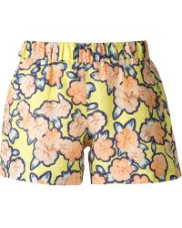 Viktor & Rolf Flower Print Jacquard Shorts - Lyst
