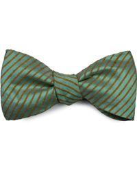 Louise & Zaid - Blue-green Silk Bow Tie - Lyst