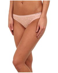 Emporio Armani Minimal Perfection Light Solid Microfiber Thong - Lyst
