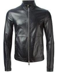 Emporio Armani Biker Jacket - Lyst