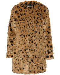 MICHAEL Michael Kors Leopard-Print Faux-Fur Coat - Lyst