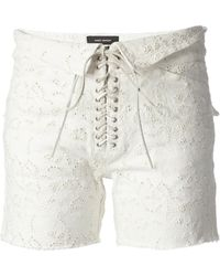 Isabel Marant Embroidered Short - Lyst