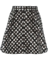 Moncler Gamme Rouge - Jacquard Flared Skirt - Lyst