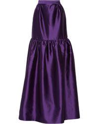 Prabal Gurung Wool and Silkblend Maxi Skirt - Lyst