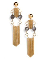 Rachel Zoe - 'remy' Fringe Drop Earrings - Lyst