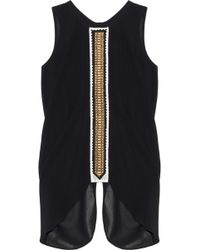 Sass & Bide The Debut Novel Embroidered Georgette Top - Lyst