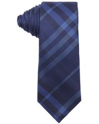 Burberry London Indigo Nova Check Print Silk 'Rohan' Tie blue - Lyst