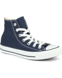 Converse Chuck Taylor All Star High Tops Navy Blue Canvas - Lyst