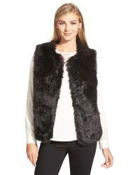 Cece by Cynthia Steffe - Faux Fur Vest - Lyst