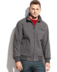 Calvin Klein Wool-Blend Bomber Jacket - Lyst