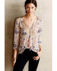 Maeve Multicolor Stillwater Blouse - Lyst