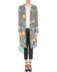 Thom Browne Sequinned Silk Coat - Lyst