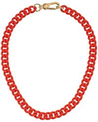 Marc By Marc Jacobs Key Items Rubber Chain Necklace - Lyst