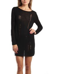 McQ by Alexander McQueen Black Sweater Dress black - Lyst