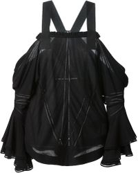 Givenchy Dropped Shoulder Draped Top - Lyst