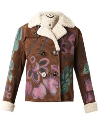 Burberry Prorsum Handpainted Shearling Jacket - Lyst