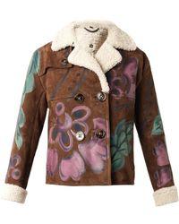 Burberry Prorsum Handpainted Shearling Jacket - Lyst