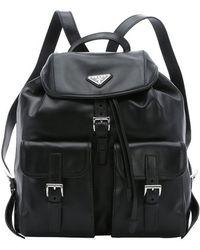 prada men's leather wallet - black leather prada backpack