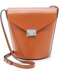 Loeffler Randall Flap Bucket Bag - Cuoio brown - Lyst