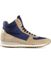 Car Shoe Blue Hitop Sneakers - Lyst
