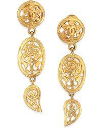 House of Lavande | Vintage Chanel Clip-on Drop Earrings | Lyst