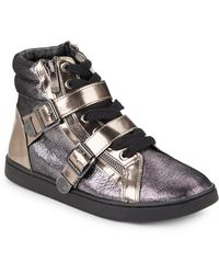 Vince Camuto Umily Metallic Leather Hightop Sneakers - Lyst