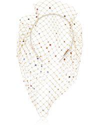 Piers Atkinson - Swarovski Crystal-embellished Veil Headband - Lyst